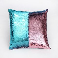 Factory selling two tone sequins throw pillow covers continental mermaid decorative pillow cushion cases sofa car DIY case