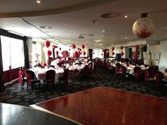 Popping balloon at The George Albert Hotel Dorchester