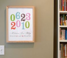 Playful Numbers modern nursery art print poster by AlmostSundayInc, $25.00