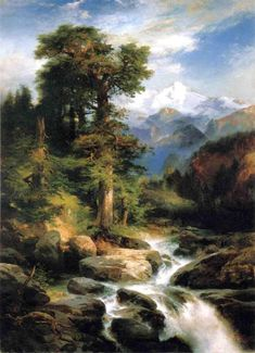 Thomas Moran, Solitude.   See The Virtual Artist gallery: www.theartistobjective.com/gallery/index