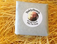 The aroma is pungent - a mix of camp fire, burning rubber, tobacco and petroleum fumes! It's amazing for beards and the skin. Men love it, women tend not to like it so much. It's Scarf Face Pine Tar Soap.  Have a read of this review and find out why despite the reviewer loving the soap, it won't be allowed back into his house again! ;)  https://thebeardedboy.wordpress.com/2015/10/15/baldybeardy-scarf-face-pine-tar-soap/  #EtsySuccess #EtsyUK #EtsyGifts #EtsyStore #BaldyBeardy #BeardCare