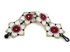 Huichol bracelet bracelet de perles de graine de fleur