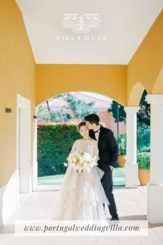 One of the dreamiest destination wedding locations in Portugal Contact Villa Guia Portugal Location, Portugal Wedding Venues, Destination Wedding Locations, Wedding Dresses, Villa, Ocean, Fashion, Alon Livne Wedding Dresses, Fashion Styles