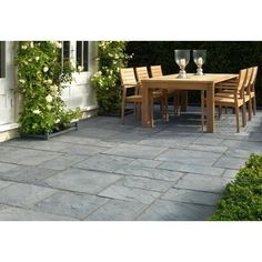 Best prices on flagstone style Stonemarket Millstone concrete paving slabs in 10m2 patio packs & choice of 2 colours with free local delivery from AWBS Concrete Paving Slabs, Patio Slabs, Concrete Patio, Stamped Concrete, Flagstone, Patio Design, Garden Design, Small Patio Spaces, Circular Patio