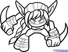 How To Draw Stealth Elf Skylanders Step By