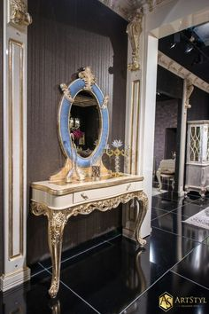 Stylowa konsola z lustrem Narrista
