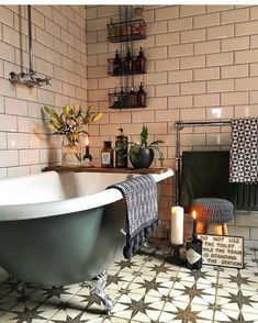40 Amazing Bohemian Style Bathroom Decor Ideas The Effective Pictures We Offer You About bohemian decor A quality picture can tell you many things. Moroccan Bathroom, Bohemian Bathroom, Moroccan Tiles, Victorian Style Bathroom, Moroccan Theme, Bad Inspiration, Bathroom Inspiration, Bathroom Ideas, Bathroom Inspo