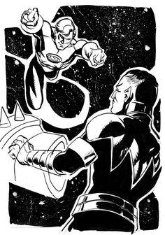 Hal vs Sinestro by stokesbook