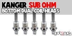Kanger Sub Ohm Dual Coil Heads (5 Pack) $11.69 | GOTSMOK.COM