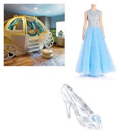 """""""cinderella to the ball"""" by freenank ❤ liked on Polyvore featuring beauty, Naeem Khan and Swarovski"""