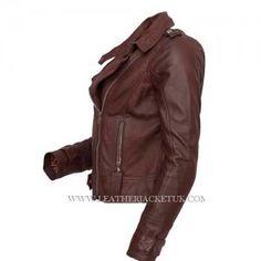 Women Brown Biker Leather Jacket Best Sale Offer  £104.00 AT Leatherjacketuk.com