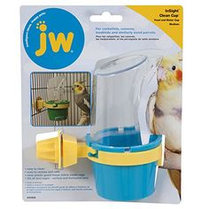 JW Pet Company Clean Cup Feeder and Water Cup Bird Accessory, Medium, Colors may vary : Bird Food Cockatiel : Pet Supplies Pet Feeder, Bird Feeders, Bird Cages For Sale, Bird Cage Stand, Dog Ramp, Parrot Toys, Buy Birds, Conure, Cockatiel