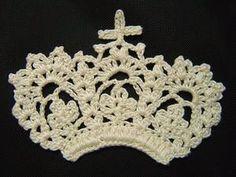 花の王冠のモチーフ(編み図付き・ティアラ・クラウン) : Crochet a little                                                                                                                                                     もっと見る