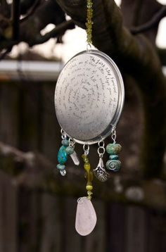Inspiration ReCycled Tin Lid Sun Catcher by TRaewyn on Etsy, $30.00