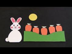 """Felt Board Story, """"Five Little Carrots"""" (free pattern)"""