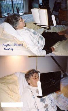 Bed book holder