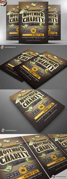 Movember Charity Flyer Template. Flyer Templates. $9.00