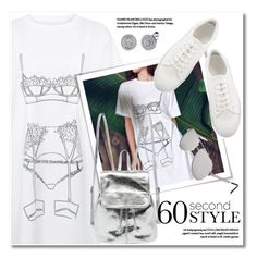 """""""60-Second Style: The T-Shirt Dress"""" by svijetlana ❤ liked on Polyvore featuring tshirtdresses, 60secondstyle and zaful"""