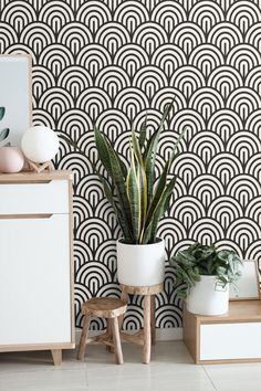 Art Deco Wallpaper Peel and stick Geometric Wall paper Mural Self Adhesive Temporary or traditional