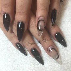 Make an original manicure for Valentine's Day - My Nails Gorgeous Nails, Pretty Nails, Witch Nails, Ten Nails, Gothic Nails, Stiletto Nail Art, Short Stiletto Nails, Best Acrylic Nails, Stylish Nails