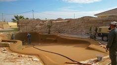 Detalles piscina de arena albero.