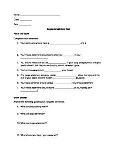 Ninth Grade (Grade 9) Writing Questions