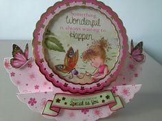 Girls rocker card made using the Hunkydory secret garden set Hunky Dory, Step Cards, Heartfelt Creations, Decorative Plates, Card Making, Scrapbooking, Christmas Ornaments, Holiday Decor, Garden