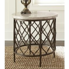 Shop for Greyson Living Rockvale Stone Top Round End Table. Get free shipping at Overstock.com - Your Online Furniture Outlet Store! Get 5% in rewards with Club O!