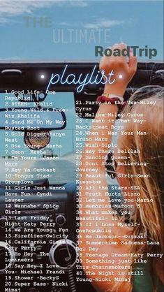 Road Trip Playlist, Summer Playlist, Song Playlist, Good Road Trip Songs, Party Music Playlist, Road Trip Music, Wedding Playlist, Music Mood, Mood Songs