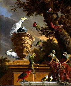 Improved:  zie tips en trucs!!!!!!!!!   Geïnspireerd door: De menagerie Melchior d' Hondecoeter, ca. 1690