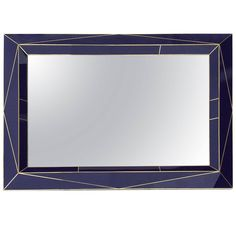 Modern American Brass Inlaid Amethyst Glass Wall Mirror   From a unique collection of antique and modern wall mirrors at https://www.1stdibs.com/furniture/mirrors/wall-mirrors/