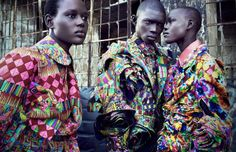 Ajak Deng, Grace Bol, and Fernando Cabral by Luigi and Daniele + Iango for i-D Pre Fall 2013 Luigi, Viviane Sassen, African Fashion Designers, Joan Smalls, Street Culture, Comme Des Garcons, Africa Fashion, Ethnic Fashion, New York Street