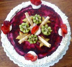 torta fria con fruta