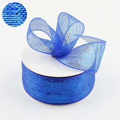 Visit efavormart to look for discounted Decorative Shiny Mesh Ribbons and Bows. Create a colorful party decorations with our beautiful Sparkly Mesh Ribbons. Royal Blue Wedding Decorations, Wedding Colors, Blue Tablecloth, Deco Mesh Ribbon, Royal Blue And Gold, Color Pairing, Colorful Party, Jewel Tones, Yards