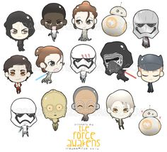 Star Wars: The Force Awakens stickers of characters from the film itself! Printed on Glossy Water Resistant sticker paper and self-cut for you.