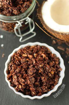 Chocolate Coconute Granola | 25+ gluten free and dairy free breakfast recipes | NoBiggie.net