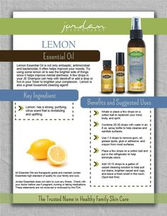 Our new addition to our Essential Oils ~Welcome Lemon Oil!
