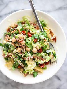 "YUM! So glad it's salad season! // ""Italian Chopped Salad with Marinated Chickpeas"" | foodiecrush.com"