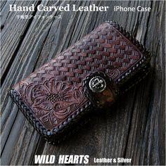 留め具はホック式でコンチョは他のモチーフに取替え可能です。縁全体が革紐で一つ一つ丁寧に手編みで編み込まれ、しっかりしたつくりに仕上がっています。 Snap clip allows for quick fastening and access your iPhone ,cards,bills...etc. Concho can be selected according to your taste ! Leather braided edges shows extreme attention to detail! Iphone Flip Case, Iphone Cases, Zip Around Wallet, Leather, Handmade, Hand Made, Iphone Case, I Phone Cases, Handarbeit