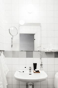 All white bathroom in Sweden.