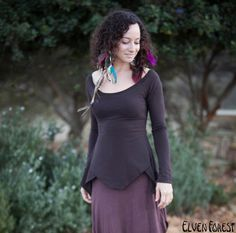 Elven Lotus Top long sleeved Pixie Top by ElvenForest on Etsy
