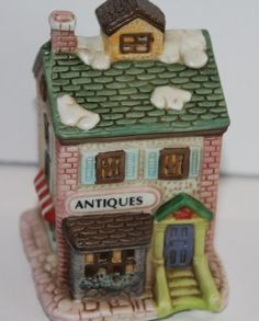 Great addition to your Christmas village. Diy Christmas Tree, Christmas Gifts For Women, Christmas Time, Christmas Decorations, Christmas Ornaments, Antique Shops, Christmas Shopping, Fourth Of July, Old Town
