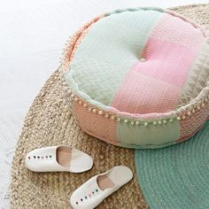 Put your rest and relaxation in the highest order with our curation of playful homewares designed to help you do just that. From a scattering of textural cushions to the comfiest beanbags in town, we want your feet up and to-do lists down. Arabian Decor, Pastel Home Decor, Pastel House, Floor Pouf, Wild Spirit, Moroccan Design, Kid Spaces, Decoration, Decorative Items
