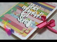 "Scrapbooking Tutorial:Accordion Mini Album ""Dolci momenti tra sorelle""-A..."