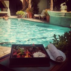 This delicious summer Bento Box is new on Beverly Wilshire's pool menu!