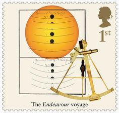 Great Britain 2018 - Captain Cook and Endeavour - Drawings of Observations of the Transit of Venus Royal Mail Stamps, Uk Stamps, Postage Stamps, Captain James Cook, The Endeavour, Australian Painting, Penny Black, Stamp Collecting, Great Britain