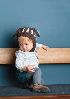 1702 Smårollinger. Strikket Ørelue Crochet Hats, Sewing, Children, Mini, Beanies, Patron Robe, Threading, Knitting Hats, Kids