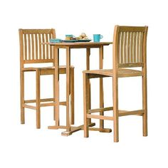Oxford Garden Sonoma 3 Piece Bar Set ($847) ❤ liked on Polyvore featuring home, outdoors, patio furniture, brown, 3 piece dining table set, outdoor dining table sets, outdoor table and chairs, 3 piece dining set and outdoor dining sets