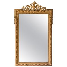 """Napoleon III Style Gold Leaf Mirror, France circa 1880 (40""""w x 63""""h)   See more antique and modern Wall Mirrors at http://www.1stdibs.com/furniture/mirrors/wall-mirrors"""