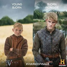 Bjorn | They did an excellent casting job with these 2. They really look alike to me so it isn't that hard to believe.  Can't get enough of this show! #vikings